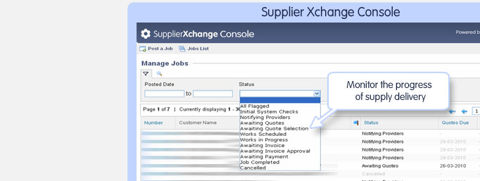 SupplierXchange Console