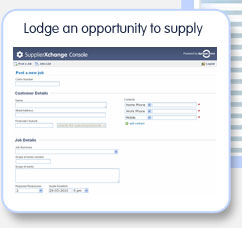Lodge an opportunity to supply