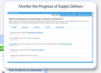 Monitor the progress of supply delivery